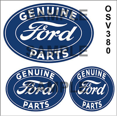 Ford Parts Service Waterslide Garage Diorama Building Sign Decals O Scale Osv380