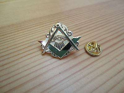 Masonic Lapel Pins Badge Mason Freemason B41 Compass And Square Eye