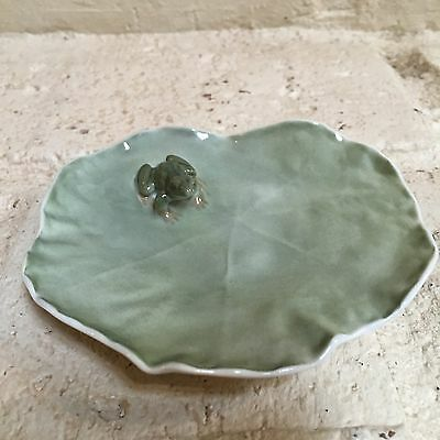 Royal Copenhagen Frog On Lily pad #2477. Excellent!