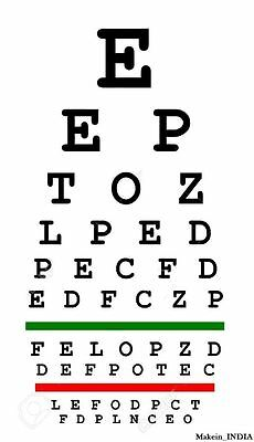 """Wall Snellen Eye Exam Vision Test Chart 22"""" x11"""" set of 10 Charts optometry, DHL"""