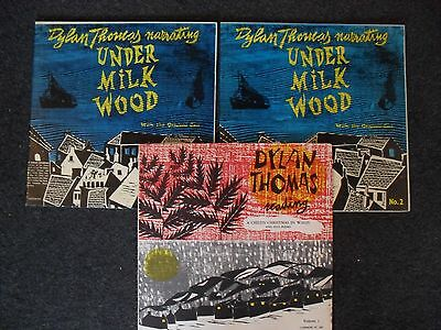 DYLAN THOMAS X3 under milk wood VINYL 2LP SET + a childs christmas in wales VOL1