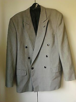 Double Breasted Dogtooth Jacket By Skopes Menswear - Size 42 S