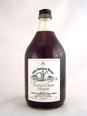 1985 circa NV CURRENCY CREEK Old Canoe Tree Muscat 2L Isle of Wine