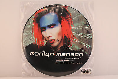 "Marilyn Manson – Rock Is Dead (1999 UK Limited Edition 10"" Vinyl Picture Disc)"