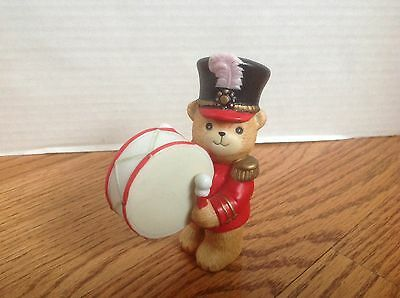 Vintage Lucy and Me Marching Band BASS DRUM DRUMMER Enesco Figurine 1982 NICE!