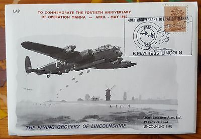 Operation Manna 40th Anniversary Lancaster Association Cover Flown on PA474 L2