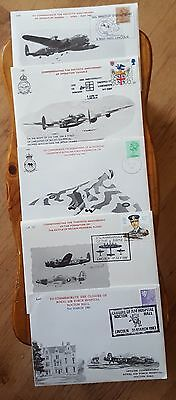 Lancaster Association Cover Collection of Five Flown in Lanc PA474 Vulcan L1
