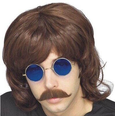 Wig - Adult - 70's Shag - Brown - Men Mens Long Hair Beatles Costume Accessory