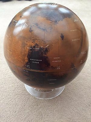 Mars Globe Martian 12 Inch Astronomy With Stand Planet Solar System Earth