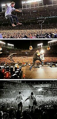 Pearl Jam Ed Vedder Ernie Banks Wrigley 3 photo lot 2014 2016 8x10 photographs