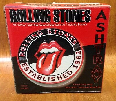 Vtg Rolling Stones Officially Licensed Collectible Ashtray New Old Stock 2004