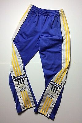 """ADIDAS rare trousers vintage retro oldschool 80s 90s pants 3 stripes poppers 28"""""""