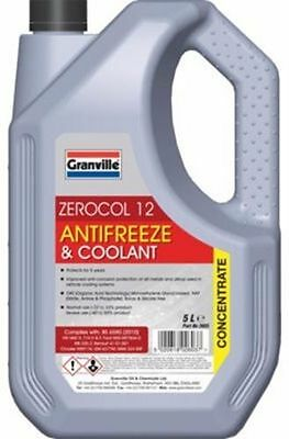 Granville RED Car Antifreeze Coolant Concentrate OAT Long Life 5 Litres