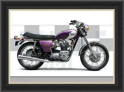 Triumph T150 Trident 1972 Motorcycle Print /  Motorcycle Poster