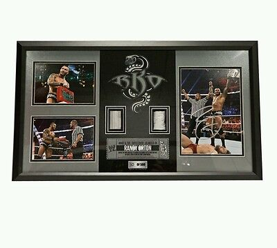 "Official WWF / WWE - Randy Orton ""You'll Never See It Coming"" Hand Signed Plaque"