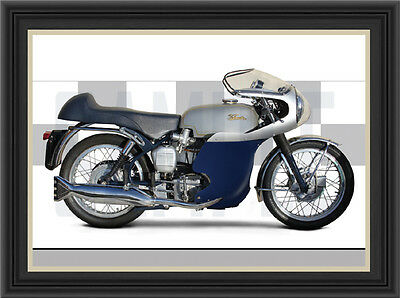Velocette Thruxton Motorcycle Print /  Motorcycle Poster