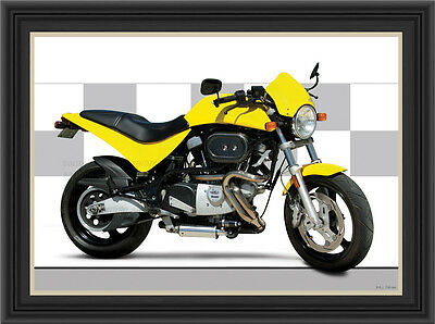 Buell M2 Cyclone 1999 MOTORCYCLE PRINT / CLASSIC MOTORCYCLE POSTER