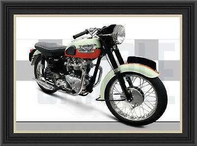 Triumph T120 (1959) Motorcycle Print /  Classic Motorcycle Poster
