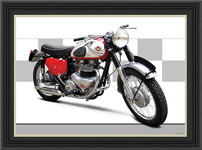 Matchless G12 Csr 1961 Motorcycle Print /  Motorcycle Poster