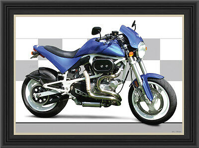 Buell S1 Lightning 1998 Motorcycle Print / Classic Motorcycle Poster