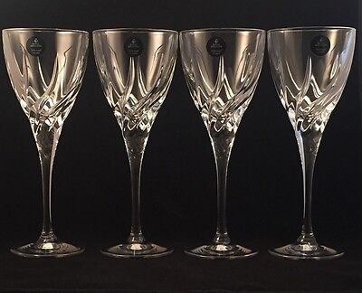 4 Royal Doulton RDC27 Wine Glasses Unused With Stickers 20 Cm Tall