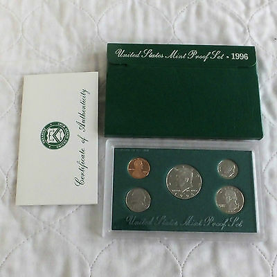 USA 1996 s 5 COIN PROOF YEAR SET - sealed with outer