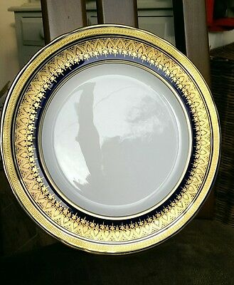 Rare Aynsley Simcoe Cobalt Blue and Gold Dinner Plate, 27cm. No 7410