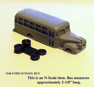 N SCALE: 1-1940 FORD SCHOOL BUS by FNS
