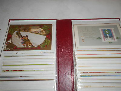 Album Of 80 Vintage Christmas & New Year Greetings Postcards