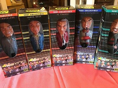 Complete Set of 5 NSYNC 2001 Collectible Best Buy Bobblehead NRFB!