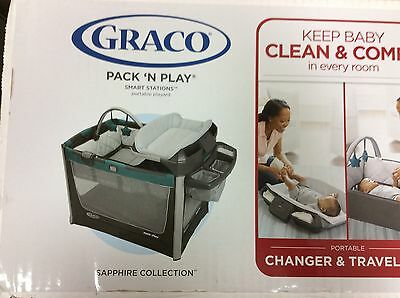 Brand New Graco Pack n Play Smart Stations playard --Sapphire collection