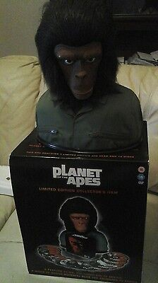 Planet Of The Apes Rare  Limited Edition Collectors Head And Dvd Collection.