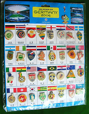 Full Set of Germany 2006 World Cup Badges 32 teams badges and 1 Tournament badge