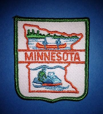 Vintage Minnesota Sew On Hat Jacket Biker Vest Backpack Travel Patch Crest A