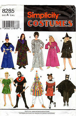 "Simplicity Sewing Pattern # 8285 ""Boys' & Girls' Mix & Match Costumes"" Halloween"