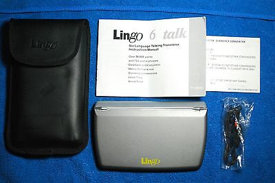 Lingo 6 Talk - Six Language Talking Translator / Phrasebook