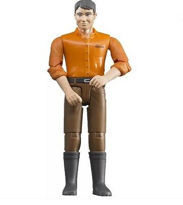 Bruder Man with Light Skin, Brown Jeans Toy Figure #60007 Official FREE SHIPPING