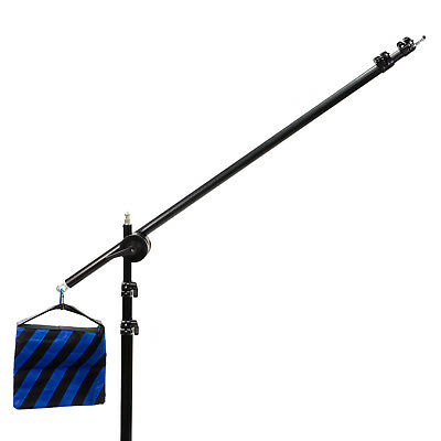 Extendable Boom Arm with Sandbag Counterweight & Grip Head for light stand