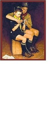 Cub Boy Scout Bsa Norman Rockwell Big Metal Collectors Sign Fathers Day Gift New