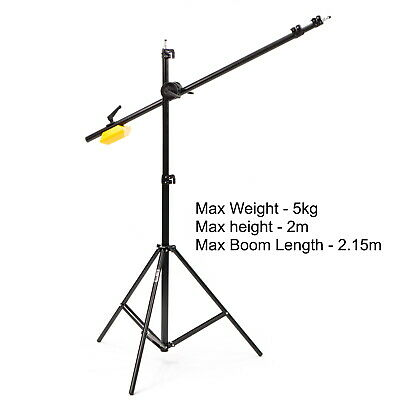 Studio Boom Stand including Light Stand, Extendable Boom Arm & 5kg Counterweight