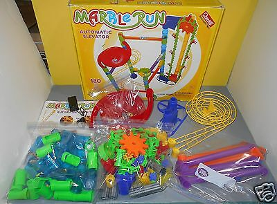 2007 Quercetti Marble Run Automatic Elevator 180 Pieces Set #6576 Building Toy