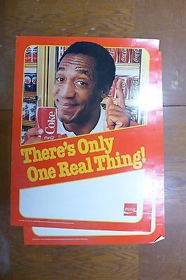 """Bill Cosby Only One Real Thing Poster 18 x 24"""" Man Cave Coca-Cola Decor"""