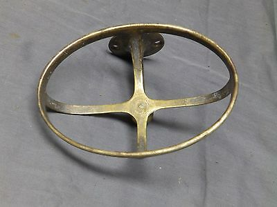 Antique Brass Basket Soap Dish Sponge Holder Old Vtg Bathroom Fixture 100-17E