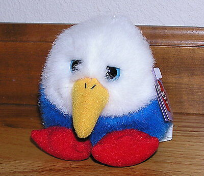 Puffkins Patriot the Bald Eagle with Blue Eyes Mint with tags