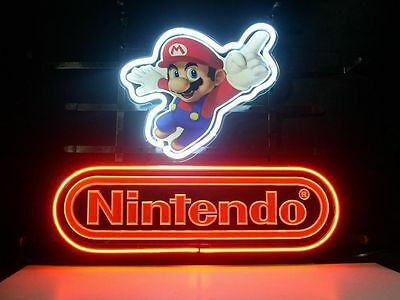 Nintendo Super Mario Bros Bar Beer Pub Store Garage Display Neon Light Sign