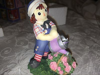 "Raggedy Ann and Andy ""A SPRINKLE OF LOVE MAKES FRIENDSHIP GROW "" WATERCAN ENESCO"