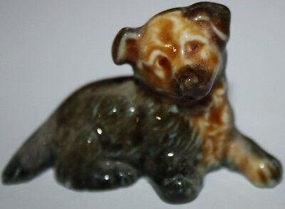Wade Whimsies Dog Alsation Vintage Wade England  Porcelain Figurine Animal
