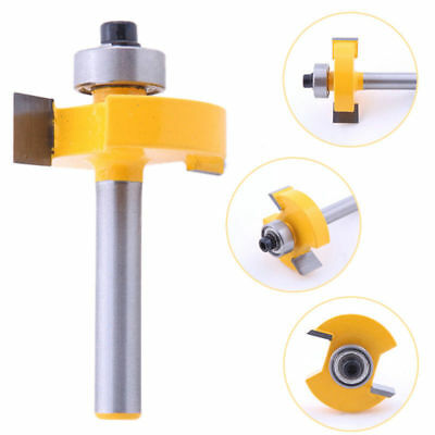 """3/8"""" T-Type Slotting & Rabbeting Router Bit 1/4"""" Shank Woodworking Cutter Tool"""