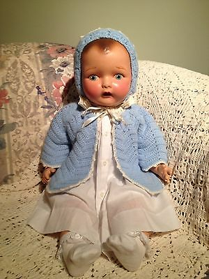 Beautiful Unmarked Composition Doll