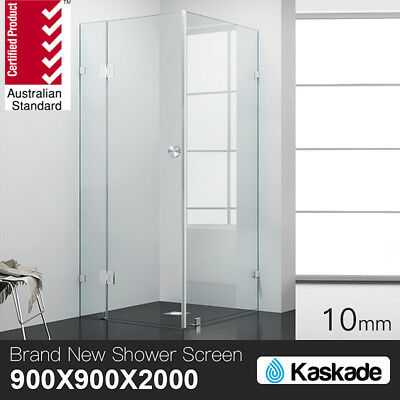 Frameless 10mm thick High Quality Safety Glass Shower Screen Multiple Sizes